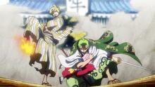 Sanji y Zoro salvan a Toko
