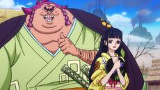 Urashima trata de cortejar a Kiku