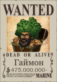 Гаймон Wanted Poster 2