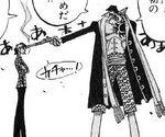 Arlong mata Bell-mère manga