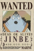 Jinbe Wanted Poster