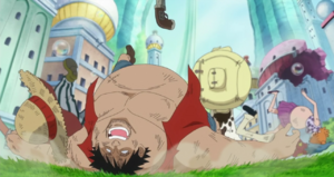 Luffy Knocks the Fake Straw Hat Crew Out With Haki