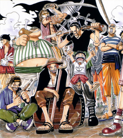 File:Luffy and Red Hair Pirates.png