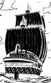 Vista posterior del barco de Drake