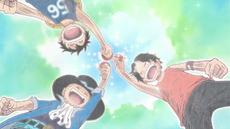 Ace, Sabo, dan Luffy Saudara Angkat