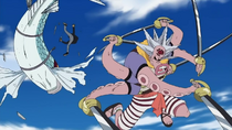 Hatchan vs. Flying Fish Riders