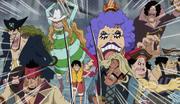 Subordinate Captains Defend Luffy