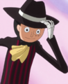 Brook déguisé en Luffy Tea Party