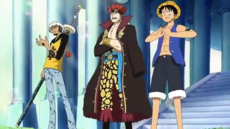 Luffy, Kid and Law versus Marines