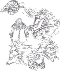 Boceto de El Drago con detallada