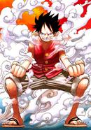Luffy activando el Gear Second