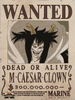 Caesar Clown Bounty Poster