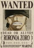 Actual recompensa de Roronoa Zoro