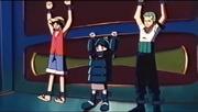 Luffy, Medaka y Zoro atrapados
