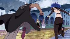 Mr. 1 y Doublefinger contra Zoro y Nami
