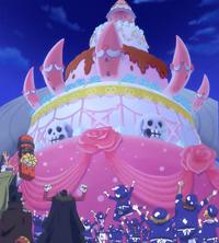 Le gâteau de mariage fait par le groupe de Sanji