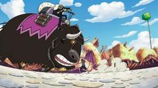 Duval y Motobaro vs Luffy