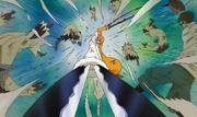 Inazuma utilise ses pouvoirs pour combattre