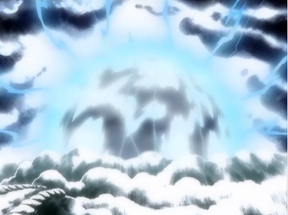 Enel destruyendo la Isla Angel