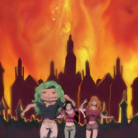 Hancock, Marigold und Sandersonia entkommen dem Inferno von Mary Geoise.