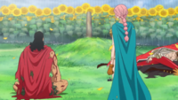 Kyros et Rebecca devant la tombe de scarlet