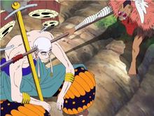 Kamakiri tentando lutar contra Enel