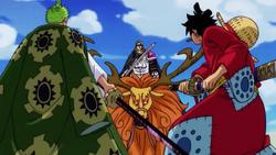Luffy And Zoro vs Basil Hawkins