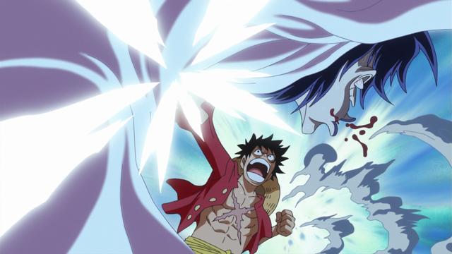 File:Luffy Attacks Caesar.png