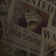 Eustass Kid's Wanted Poster