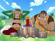Luffy con Masira y Shojo