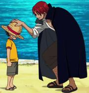 Luffy menerima topi jerami