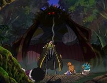 Nekomamushi apparaît derrière Bege