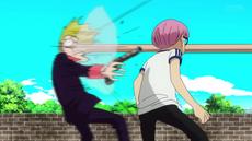 Luffy derrota a Helmeppo