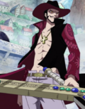 Mihawk en Marineford
