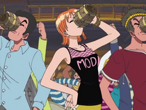 Nami in a Drinking Contest in Whisky Peak