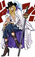 Cavendish in the Digitally Colored Manga