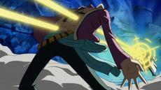 Marco es atacado por Kizaru
