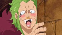 Bartolomeo devine timid in prezenta lui Luffy