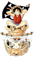 Going Merry a color en el manga