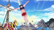 Luffys Gomu Gomu no Giant Jet Lance (1)