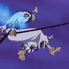 Doch Zoros letzter Angriff steckt Ryūma in Brand.