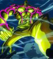 Gildo Tesoro utilizando su poder