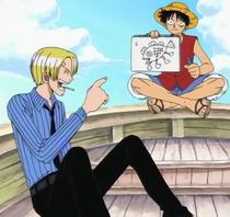 Luffy Menggambar Manusia Ikan