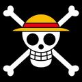 Piratas de Sombrero de Paja bandera