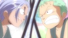Rivalidad de Zoro y Saga