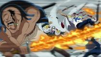 Fossa's flaming katana