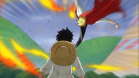 Luffy Refusing to Fight Back Against Sanji