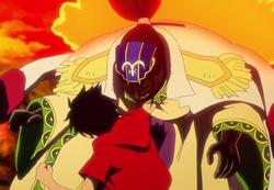 Luffy bat Komei