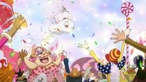 Sanji and Pudding Arrive at Wedding