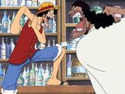 Luffy und Kurohige geraten aneinander